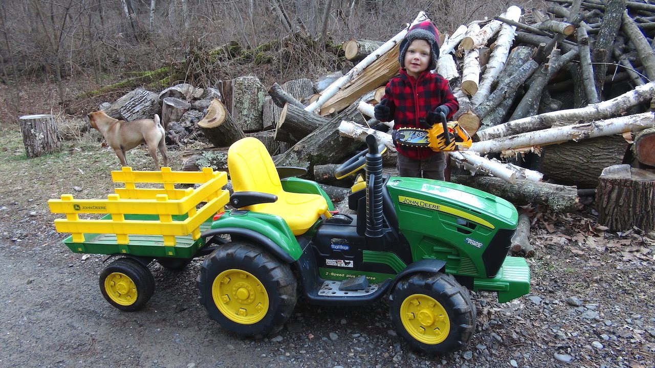 Old John Deere Power Wheels : The little lumberjack funnydog tv