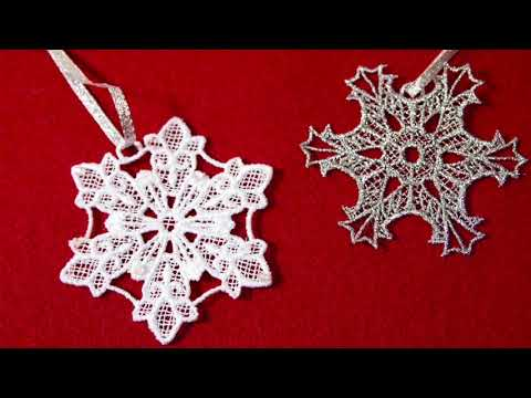 How To Machine Embroider Freestanding Lace Snowflake Ornaments