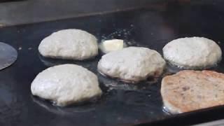 순천 아랫장 겨울철장터음식 쑥호떡&흑미호떡,수수부꾸미
