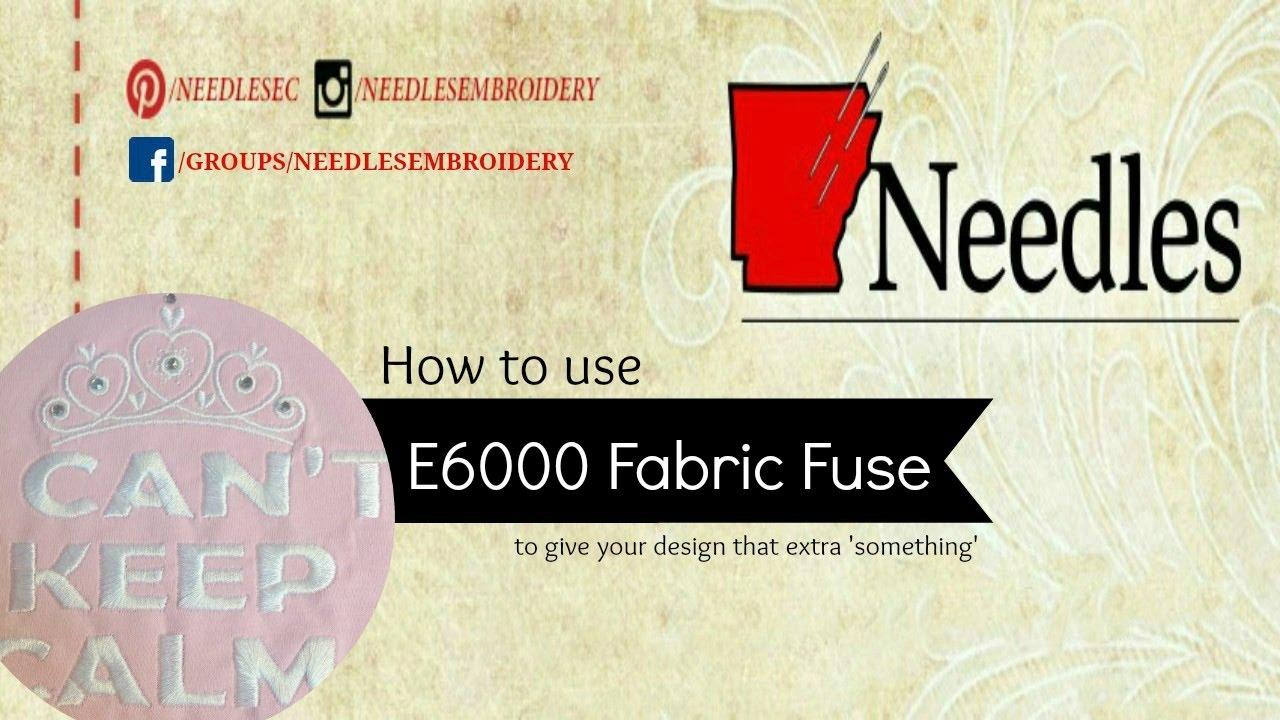 E6000 Fabric Fuse On Embroidery