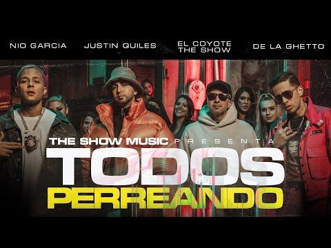 Смотреть клип El Coyote The Show, Justin Quiles, Nio Garcia , De La Ghetto - Todos Perreando