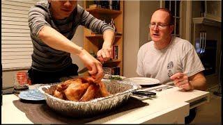🌈28| Gay Việt Chồng Mỹ Nướng Gà Tây Ăn Lễ Thanksgiving| Long Tran USA