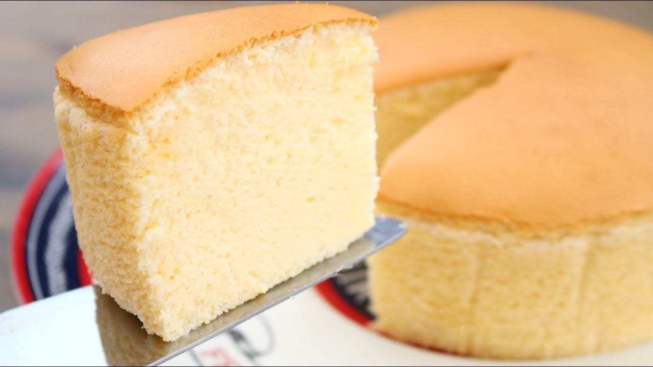Japanese Sponge Cake Recipe Youtube
