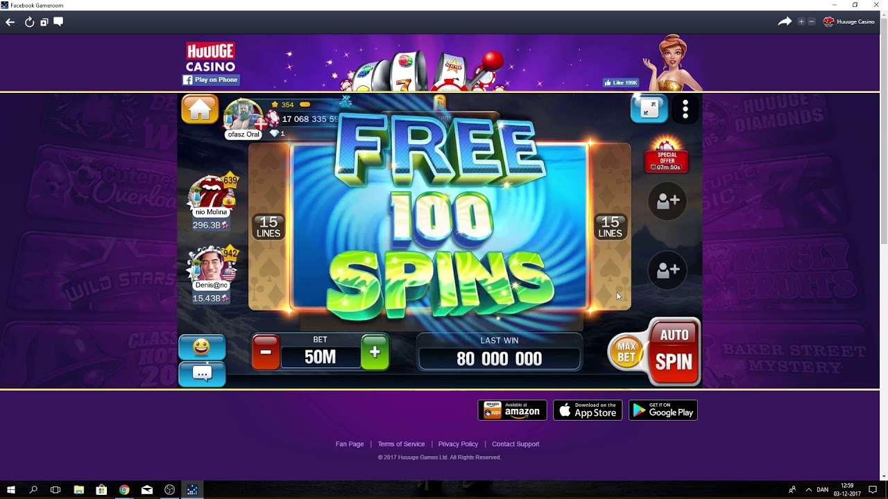 Huuuge casino 250 free spins