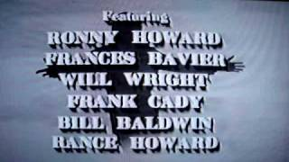 Closing Credits The Danny Thomas Show Andy Griffith Pilot