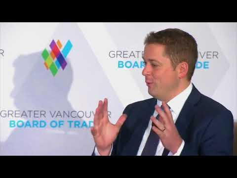 Conservative Leader Andrew Scheer Q & A at Greater Vancouver Board of Trade