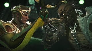Injustice 2 : Aquaman Vs Scarecrow - All Intro/Outros, Clash Dialog...