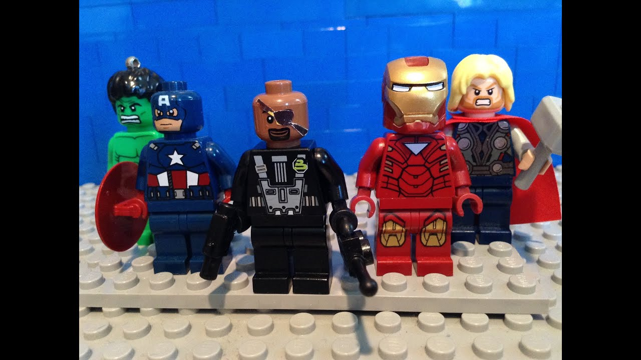 LEGO Marvel Avengers Nick Fury Custom Minifigure - YouTube