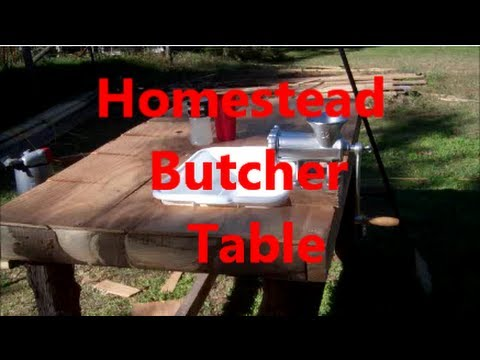 Great Homestead Butcher Table