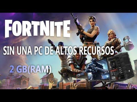 COMO INSTALAR FORTNITE CON UNA PC DE BAJOS RECURSOS(Bien Explicado)
