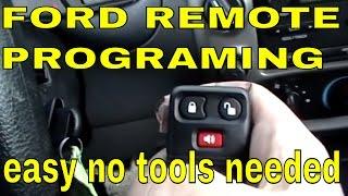 FORD RANGER How to program keyless entry remote control, RKE transmitter P/N: 8L3Z-15K601-AA