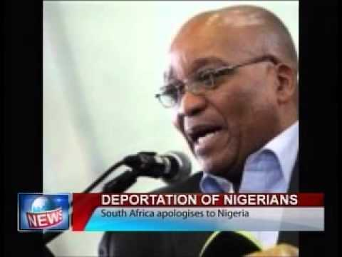 Deportation of Nigerians-South Africa Apologises to Nigeria