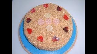 Медовый торт День святого Валентина