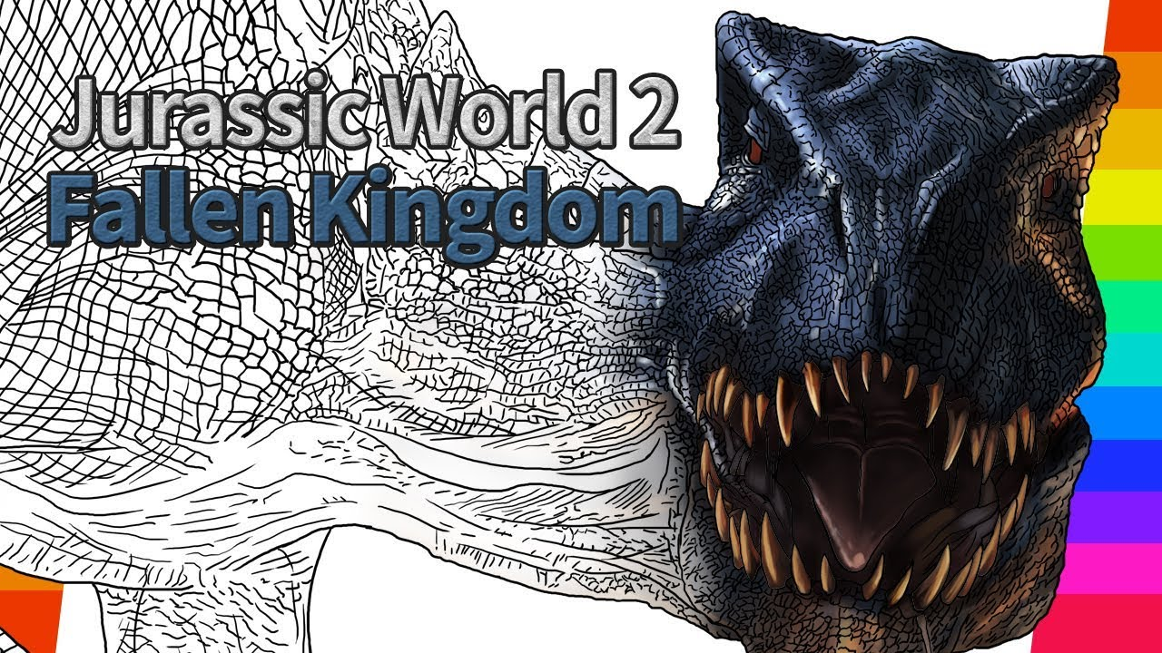 Jurassic World 2 Movie Drawing How To Draw Drawing And Coloring