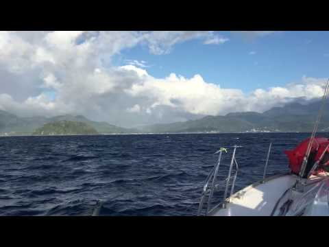 Guests Sailing into Dominica on SY Nemo | Visit www.bluefoottravel.com