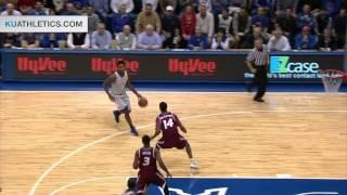 Cliff Alexander Allyoop vs Rider // Kansas Basketball // 11.24.14