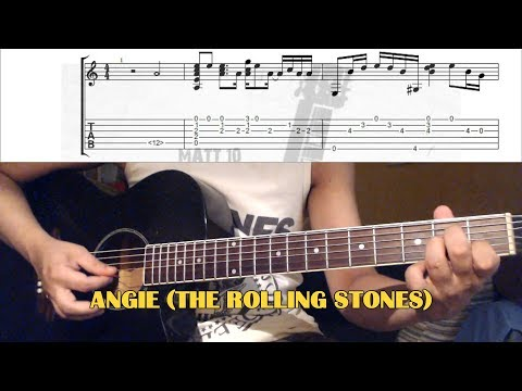 Angie INTRO (The Rolling Stones) GUITAR LESSON With TAB