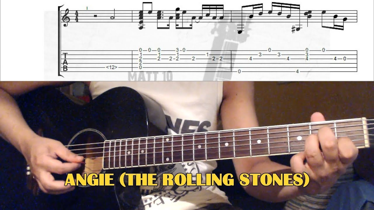 angie intro the rolling stones guitar lesson with tab youtube. Black Bedroom Furniture Sets. Home Design Ideas
