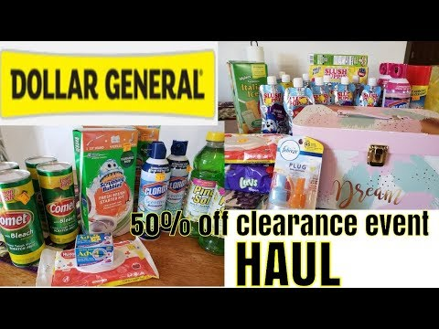 Dollar General 50% Off Clearance Event Haul | Dollar General Deals 8/23/19 Through 8/25/19
