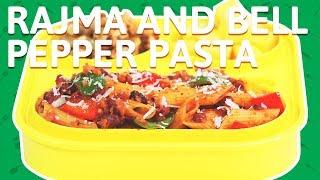 Cheesy Rajma Pasta   Kidney Beans Pasta with Bell Pepper   Pasta w/ Rajma Recipe for Kids