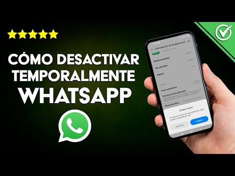 Cómo Desactivar Temporalmente WhatsApp Messenger sin Borrarlo en Android o iPhone