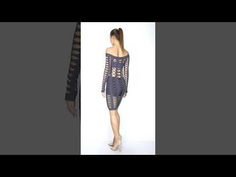 Sexy Kurveshop Fishnet Dress Fashion Video
