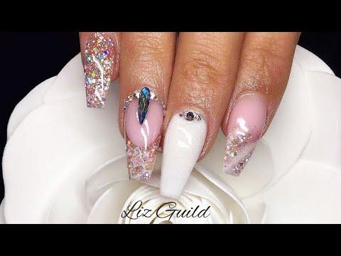Acrylic Nails | Pink Princess | Swarovski Crystals
