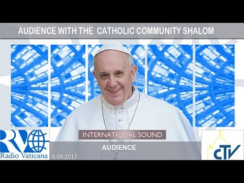 2017.09.04 Pope Francis meets with catholic community Shalom