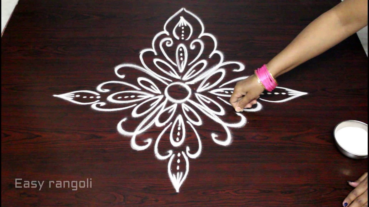 Creative and easy freehand rangoli designs simple kolam for Creative simple