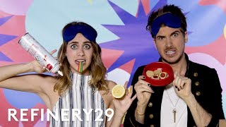 Joey Graceffa What's In My Mouth Challenge With Lucie Fink | YouTube Challenges | Refinery29