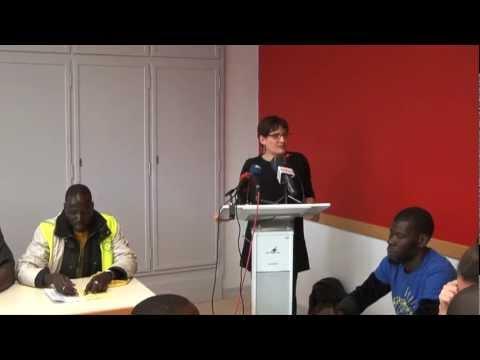Part.1 Conférence de presse Luxembourg (Lux.) - Marche Européenne Sans Papiers 07/06/12.