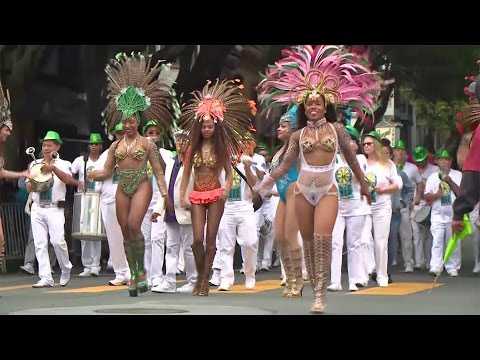 San Francisco Celebrates Carnaval With Kaleidoscope Of Color Under Gray Sky