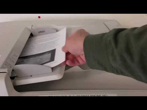 How to Send a Fax using the Xerox Multifunction Machine [CC]