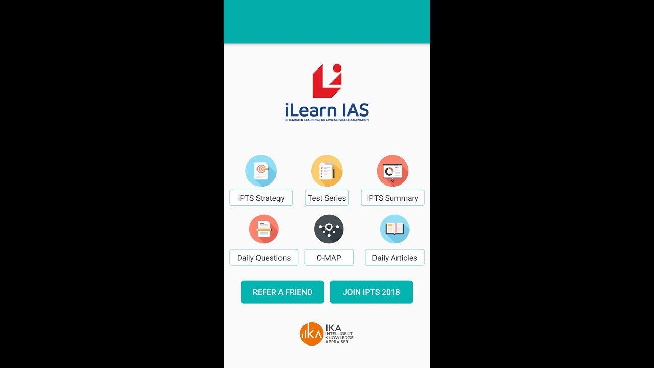 Demo Of Ilearn Ias Mobile App For Civil Services Aspirants Youtube