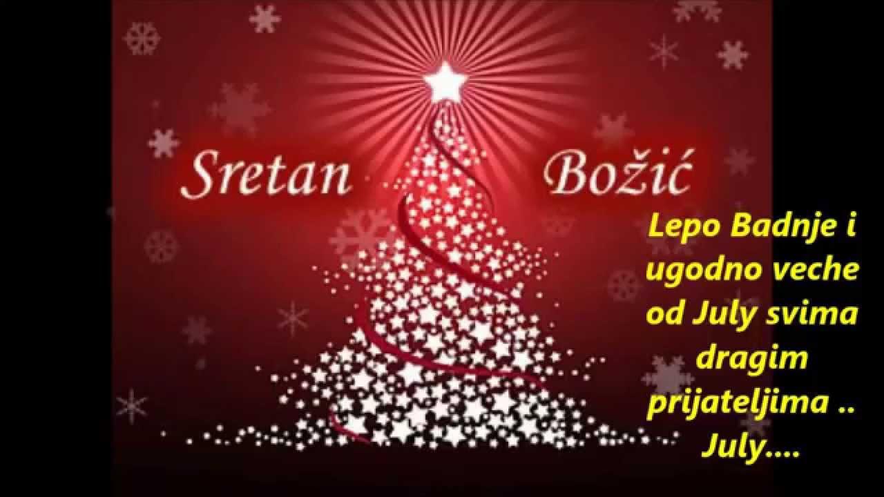 sretan božić tekst čestitke Sretno Badnje veče i Božić od July   YouTube sretan božić tekst čestitke