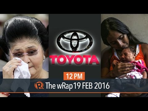 Pope on Zika and contraceptives, Marcos wealth, Toyota | 12PM wRap