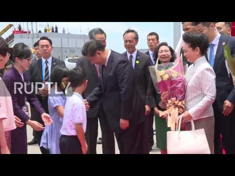 Hong Kong: Xi Jinping touches down in Hong Kong on 20th anniversary of Chinese rule