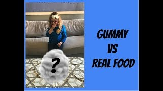 Gummy vs Real Food Challenge!