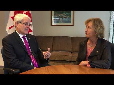 Discussing coastal protection with Transport Minister, Marc Garneau