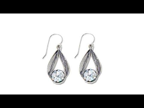 5aac6397f Noa Zuman Roman Glass Open PearShaped Drop Earrings - YouTube