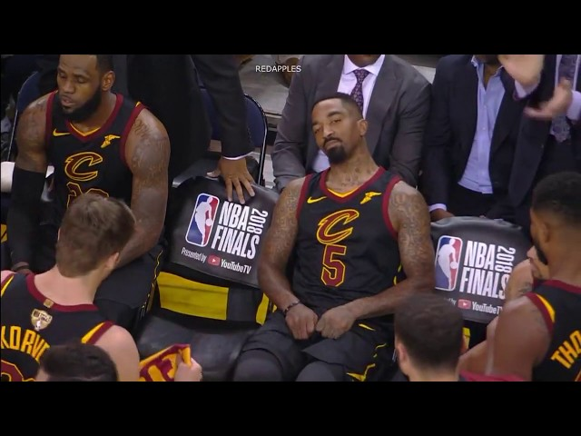 eec86e84e698 Here s Four Minutes Of Footage From Game 1 Of LeBron James Not Murdering  J.R. Smith