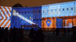 Новогоднее шоу на Дворцовой площади. Январь 2015