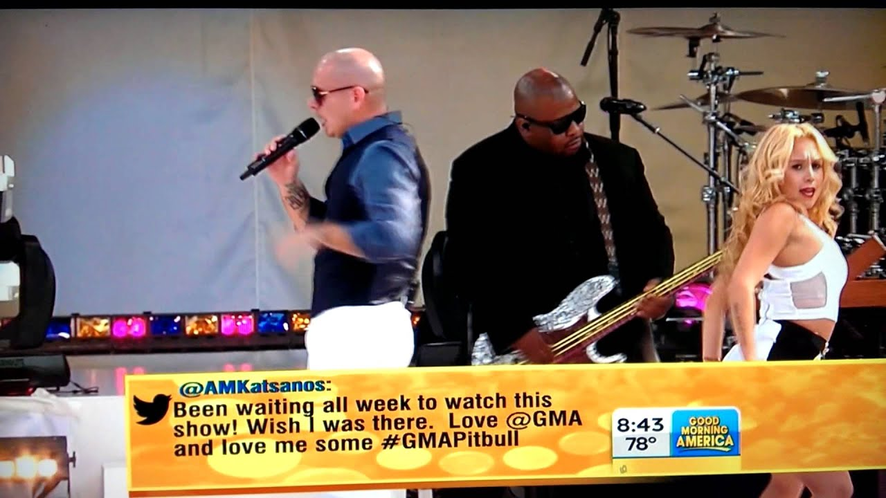 Download Pitbull - Central Park - Don't stop the party. GMA