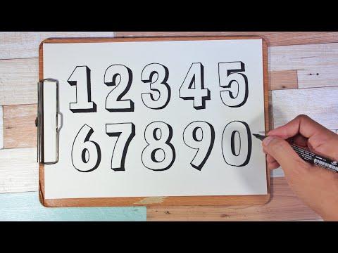 How to draw 3D numbers | วาดตัวเลขแบบสามมิติ