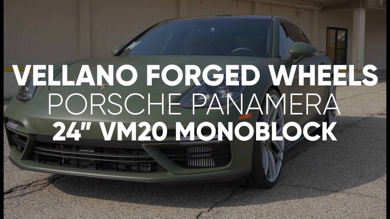 "Army Green 2020 Porsche Panamera Turbo | 24"" VM20 Monoblock"