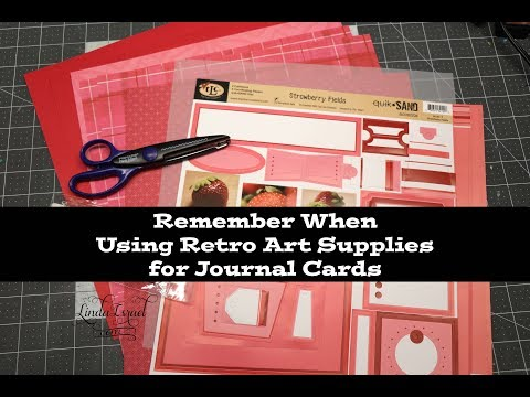 Remember When Using Retro Art Supplies For Journal Cards