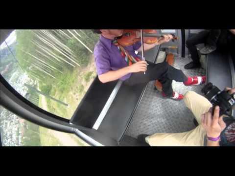 Casey Driessen Fiddling & Singing on a Gondola