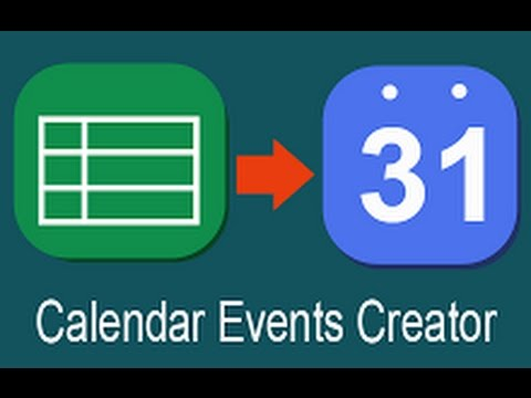 create google calendar events from spreadsheet youtube