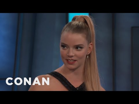 Anya Taylor Joy's Awkward OnScreen Kiss With James McAvoy   CONAN on TBS