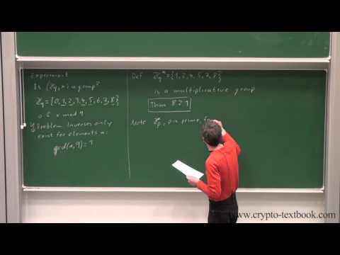 Lecture 13: Diffie-Hellman Key Exchange and the Discrete Log Problem by Christof Paar